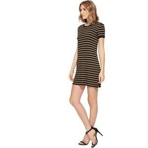 Michael Stars Ribbed Striped Crewneck Dress